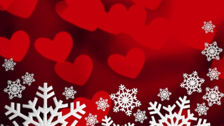 Love Christmas. Christmas snowflakes background photo