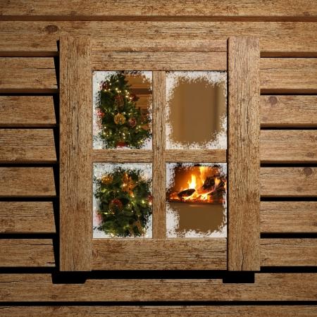 cabina: Navidad ventana
