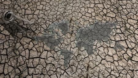cracked earth: Global Warming