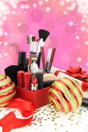 Christmas cosmetics photo