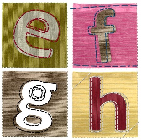 Textile letters collection photo