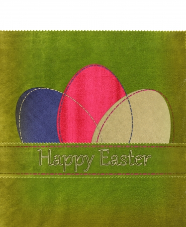 Easter textile colorful eggs  photo