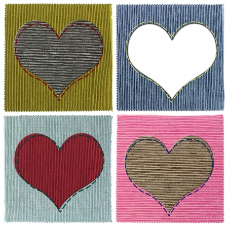 Textile heart collage photo