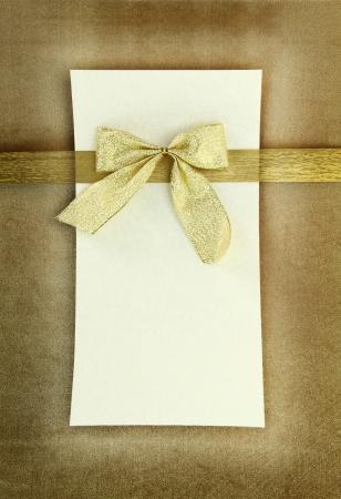 christmas menu: Greeting card on vintage background