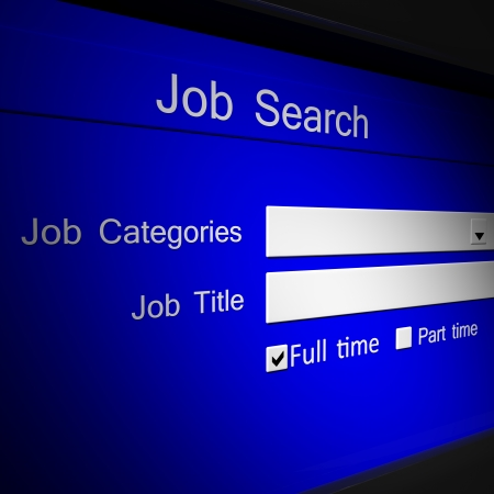 search button: Online job searching