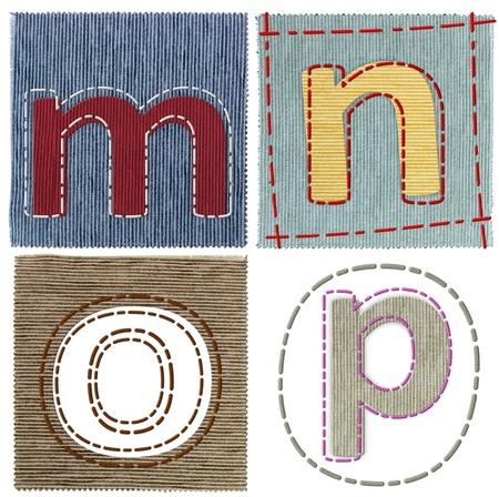 az: Textile letters collection Stock Photo