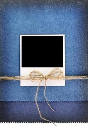 album greetings:   frame on vintage blue background Stock Photo
