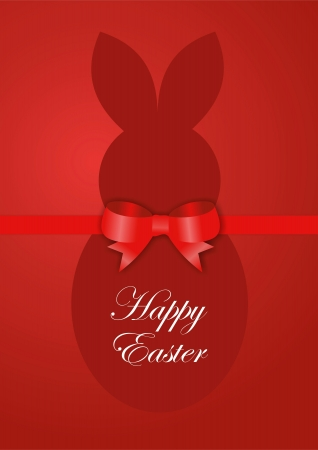 Red Easter bunny card photo