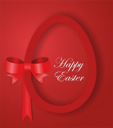 Red paper Easter egg Imagens