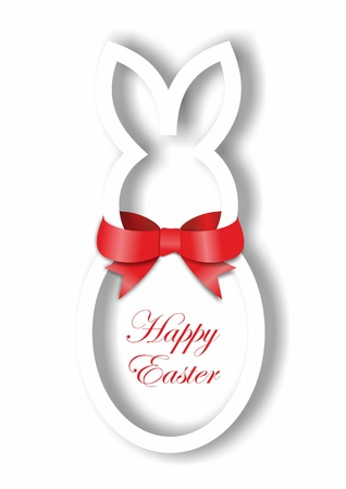 Paper Easter bunny card