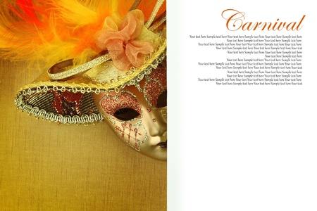 mascara de carnaval: Máscara de carnaval con el copia-espacio