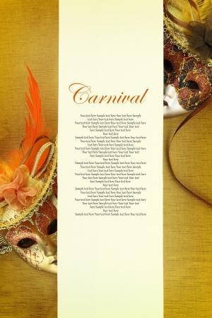 mascaras de carnaval: Carnaval bandera Foto de archivo