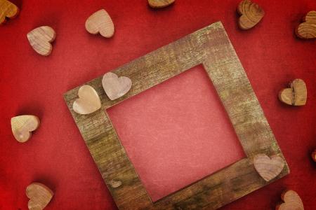 Wooden love frame photo