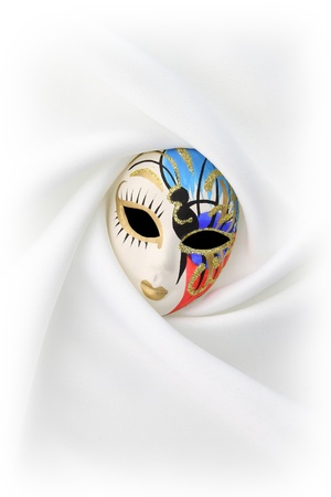 Carnival mask on white background photo