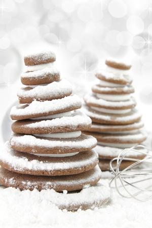 christmas cookies tree stock photo 17550003