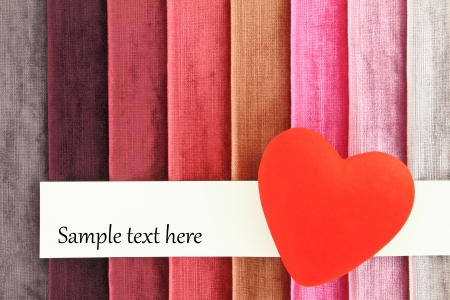 Red heart on color background Stock Photo - 17550006