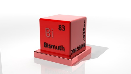 protons: Bismuth. 3d chemical element of the periodic table