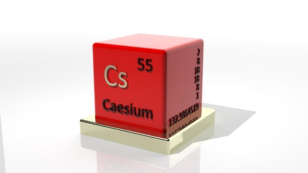 Caecium, 3d chemical element of the periodic table photo