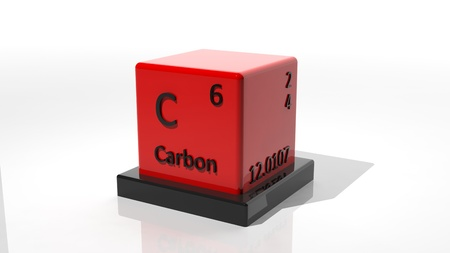 Carbon,  3d chemical element of the periodic table Stock Photo - 17550041