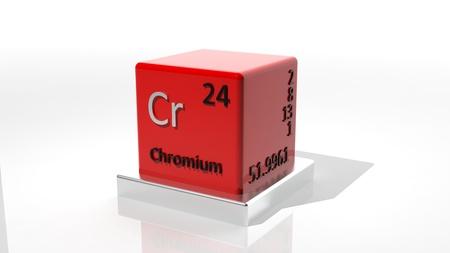 neutrons: Cromo, elemento 3d qu�mica de la tabla peri�dica