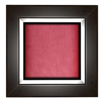 Modern frame isolated on white photo