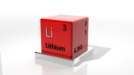 Lithium, 3d chemical element of the periodic  photo