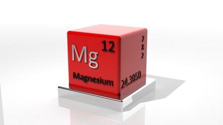 magnesium: Magnesium, 3d chemical element of the periodic  Stock Photo