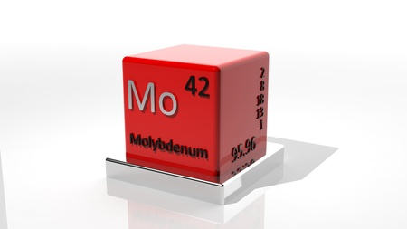 Molybdenum, 3d chemical element of the periodic  photo