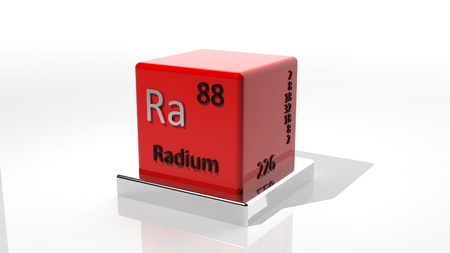 radium: Radium, 3d chemical element of the periodic Stock Photo