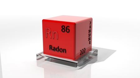 Radon, 3d chemical element of the periodic photo