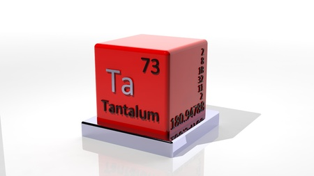 Tantalum, 3d chemical element of the periodic Stock Photo - 17550151