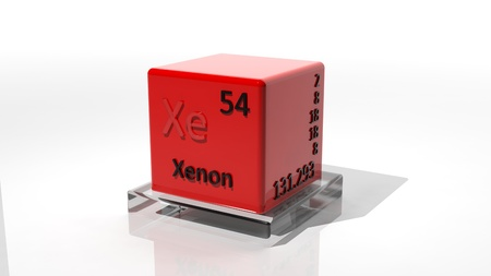 isotope: Xenon, 3d chemical element of the periodic