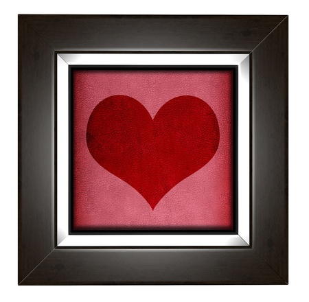 Modern love frame with heart design photo
