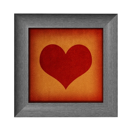 Modern love frame with heart design photo