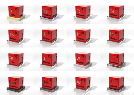 3d chemical elements of the periodic table Stock Photo - 17720103
