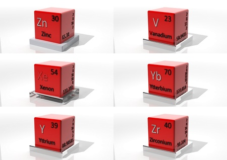 3d chemical elements of the periodic table photo