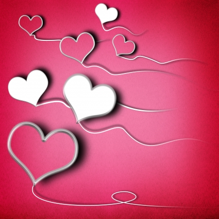 Valentines day background with heart shaped kites Stock Photo - 17990504