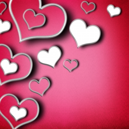 Valentines day background with hearts  photo