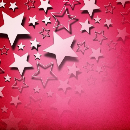 Stars on vintage grunge pink background photo