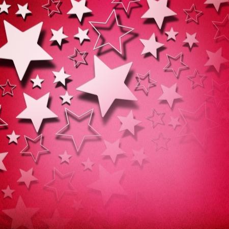Stars on vintage grunge pink background Stock Photo - 17990506