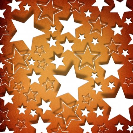 Stars on vintage grunge background photo