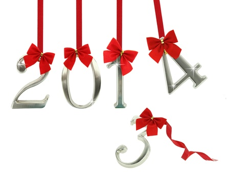 The new year 2014 is coming Stock Photo - 18422286