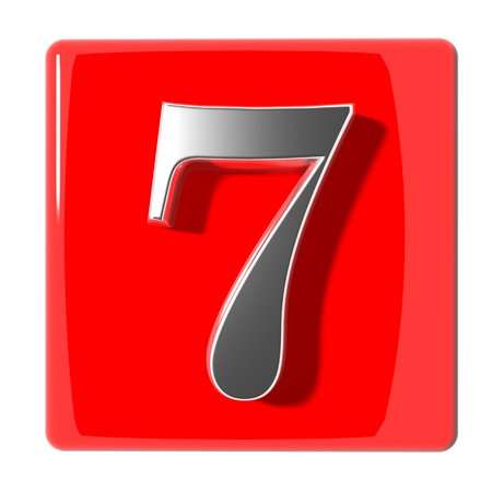 number seven: Number seven icon Stock Photo