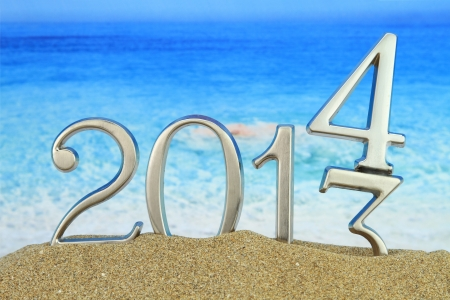 New year 2014 on the beach photo