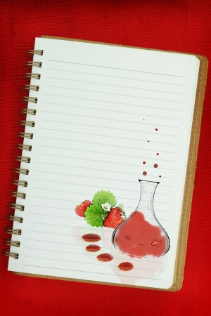 person appetizer: Molecular gastronomy painting on white background