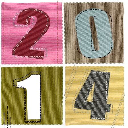 Textile numbers new year 2014  photo