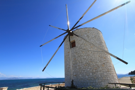 corfu: Old windmill of Corfu