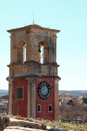 kerkyra: Old belfry tower in Corfu, Greece