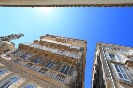 neoclassic: Old buildings in Corfu, Greece