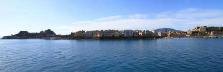 Panoramic view of Corfu (the old town) photo